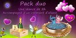 Bon cadeau ''Pack love'' 2 h pour 2 personnes