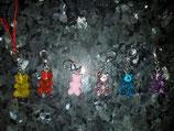Schlüsselanhänger in Gumibärliform
