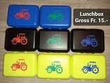 Lunchbox Gross mit Trennkästchen Traktor
