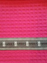 Waffelküchentuch Pink Edelweiss