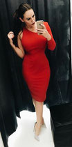 Viki dress red