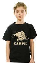 Tee-shirt pêche garçon et la carpe miroir
