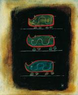 title: how the rhinoceros turned blue, artist MAXIMILIAN MAJO