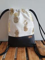 Turnbeutel Ananas schwarz Art. 13.4.7