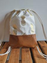 Turnbeutel Ananas braun Art. 13.4.6