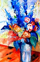Blumenstrauss, Aquarell