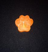 Pawcandle klein (Orange) - handgemacht