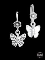 Boucles d'oreilles en argent papillons 27