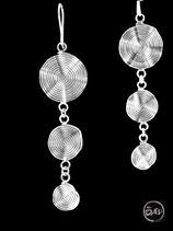 Boucles d'oreilles en argent spirales 18