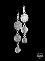 Boucles d'oreilles en argent spirales 14