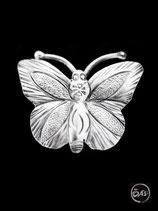 Bague en argent papillon 15