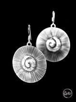 Boucles d'oreilles en argent spirales 15