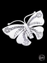 Bague en argent papillon 30