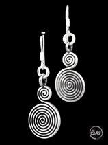 Boucles d'oreilles en argent spirales 07