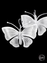 Boucles d'oreilles en argent papillons 24