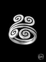 Bague en argent spirale 05
