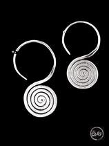 Boucles d'oreilles en argent spirales 29