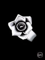 Bague en argent fleur 04