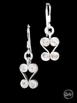 Boucles d'oreilles en argent spirales 03