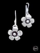 Boucles d'oreilles en argent fleurs 06