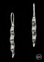 Boucles d'oreilles en argent feuilles 50