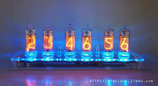(Free shipping)Pluggable-USB Powered IN-14 6-Tube Digit NIXIE Tube Clock + Acrylic Enclosure
