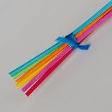 Peddrohr 2,5mm gefärbt, 6Stk, gemischte Farben