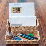 Briefständer und/oder Bleistiftschale / Rohling mit Flechtmaterial