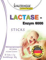 Lactase - Enzym 6000 - 30 sticks for immediate usage (no water needed)