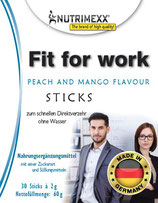 Fit for work - 30 sticks for immediate usage (no water needed)