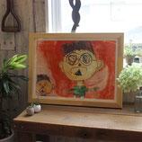 オサマルーエ 子供の絵 飾る 絵の保管 収納 イラスト 園児 小学生 子供の絵専用額縁