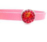 Anhänger Kunstleder rosa - Glitter