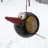 Meisenknödelhalter Vogel (schwarz)