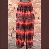 Pluderhose rot/schwarz gemustert