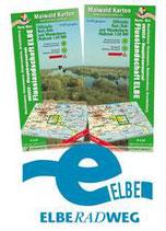 Rad- und Wanderkarte UNESCO-Biosphärenreservat Flusslandschaft Elbe, Teilkarte West