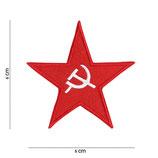 Embleem stof rode ster