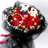 cf001 - 玫瑰皇冠小公主熊节日礼物送女朋友女生闺蜜妻子香皂肥皂花束手捧花玫瑰花  包邮