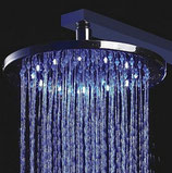 8 Inch Chrome Plated Round LED Shower Head