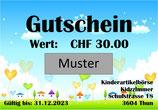 Gutschein CHF 30.00