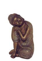 KY1035532 Wunderschöne Buddha Urne bronzefarben lackiert - 1,5 Liter