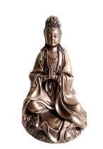 ZV-B14 Buddha Urne - Kwan Yin- hell bronzefarben lackiert - 0,95 Liter