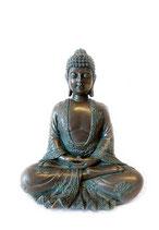 GD14005 Wunderschöne Buddha Urne in Bronzeoptik - 0,8 Liter