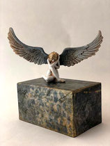 Wunderschöne Engelurne von Künstlerhand bemalt - 0,4 Liter - SID007D