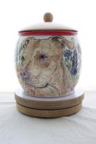 Handbemalte personalisierte Hundeurne von einer Künstlerin - 3 Liter