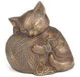 D9146 Katzenurne aus hochwertigem Messing in goldfarben - 0,6 Liter