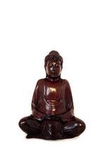 KY-CD0520 Buddha Urne mahagonifarben lackiert - 0,05 Liter