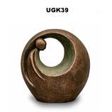 Handgemachte Urne aus hochwertiger Keramik mit Bronze oder Silber überzogen