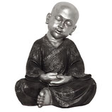 "KY1035439 Buddha Urne ""Shaolin"" in altsilber mit Mandalas - 14 Liter"