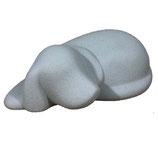 DS-BG Hundeurne aus Gres-Porzellan in grau oder weiß - 0,5 Liter