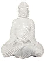 KY1035326 Buddha Urne in weiß/hochglanz - 6,5 Liter